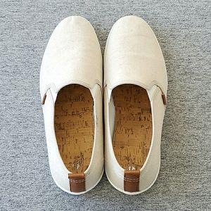 H&M Mens Canvas Slip On Loafer, Size 11.5